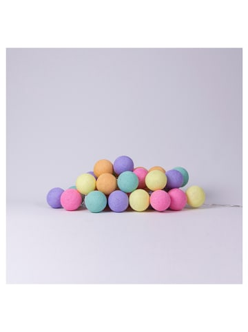 Cotton Ball Lights Leuchtgirlande in Bunt - (L)558 cm