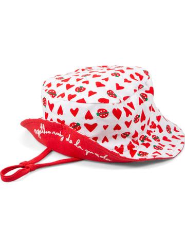 """Agatha Ruiz de la Prada Kapelusz """"Ladybug"""" w kolorze biało-czerwonym"""