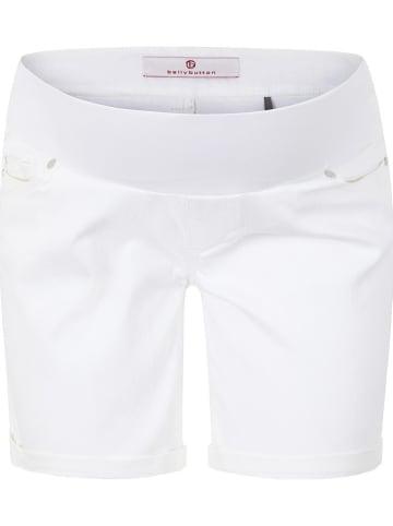 Bellybutton Dżinsowe szorty ciążowe w kolorze białym