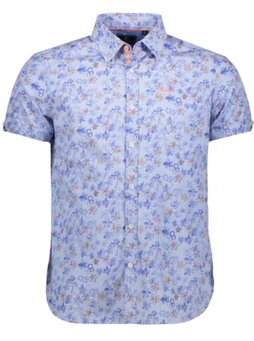 "NEW ZEALAND AUCKLAND Hemd ""Waimeha"" - Comfort fit - in Hellblau/ Blau"