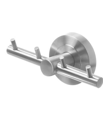 AMARE Roestvrijstalen haakrail - (B)12 x (H)6 cm