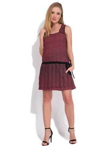 Namaste Kleid in Rot/ Schwarz