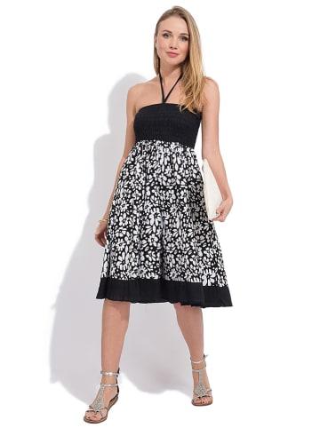 Namaste Kleid in Schwarz/ Weiß