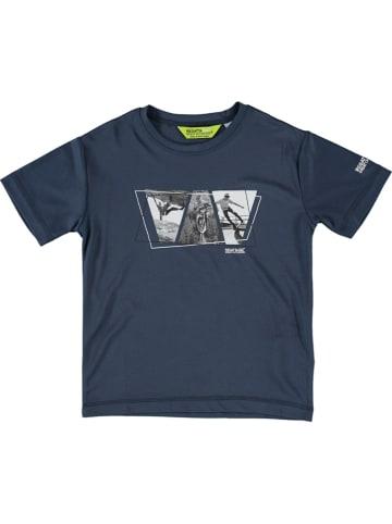 """Regatta Koszulka funkcyjna """"Alvarado V"""" w kolorze granatowym"""