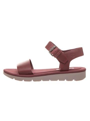 """Timberland Leren sandalen """"Lottie Lou"""" bordeaux - wijdte W"""