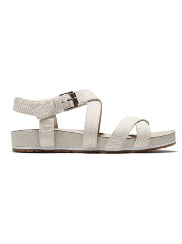 "Timberland Leren sandalen ""Malibu Waves Ankle"" wit - wijdte W"