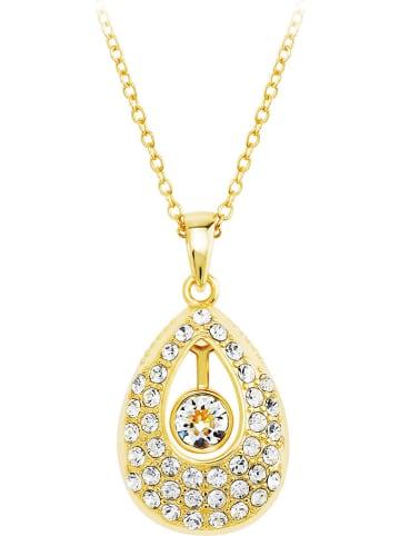 METROPOLITAN Pozłacany naszyjnik z kryształami Swarovski - dł. 42 cm