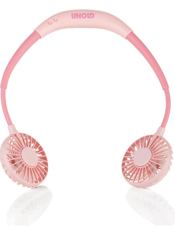 "Unold Akku-Nackenventilator ""Breezy"" in Rosa/ Pink - (B)21,5 x (H)29 x (T)3 cm"