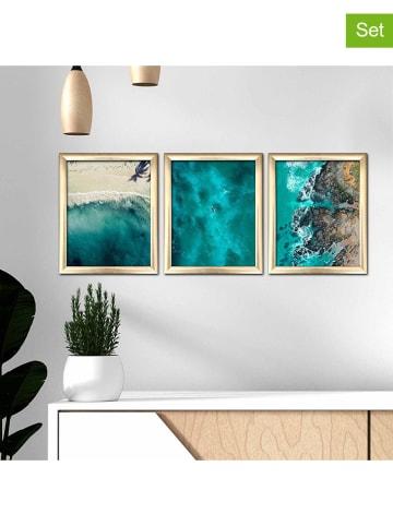 "Evila 3-delige set: ingelijste kunstdrukken ""Blue Heaven"" - (B)23,5 x (H)28,5 cm"