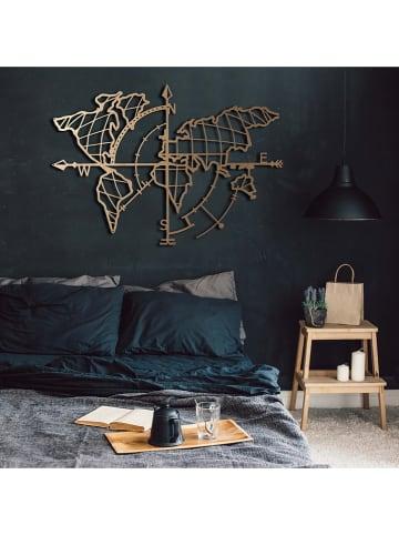 """Evila Dekoracja ścienna """"World Map Compass"""" - 95 x 65 cm"""