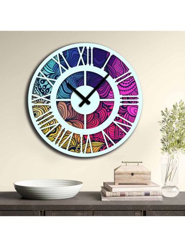 ABERTO DESIGN Zegar ścienny ze wzorem - Ø 50 cm