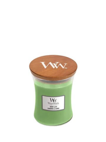 WoodWick Średnia świeca zapachowa - Hemp & Ivy