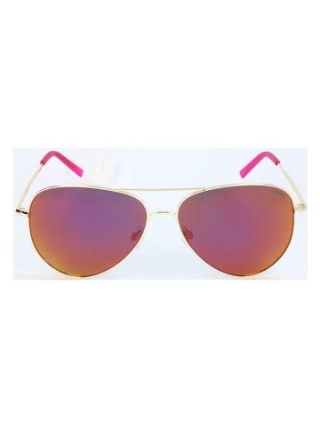 """Polaroid Okulary przeciwsłoneczne """"6012/N"""" w kolorze złoto-różowym"""