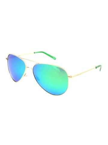 """Polaroid Okulary przeciwsłoneczne """"6012/N"""" w kolorze złoto-niebieskim"""