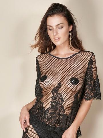 """Escora Koszulka piżamowa """"Jole"""" w kolorze czarnym"""