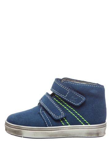 Richter Shoes Leder-Sneakers in Blau