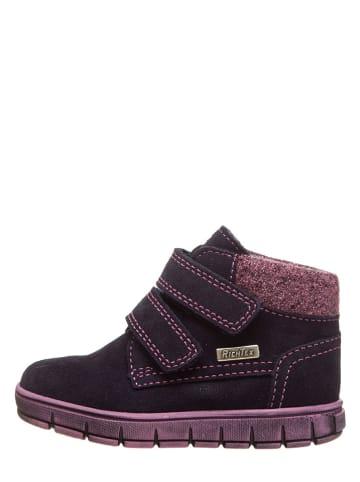 Richter Shoes Skórzane sneakersy w kolorze granatowo-jasnoróżowym