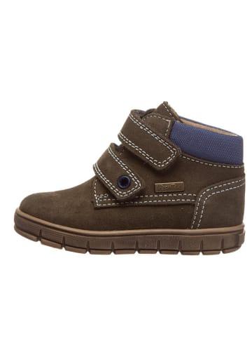 Richter Shoes Leder-Sneakers in Braun