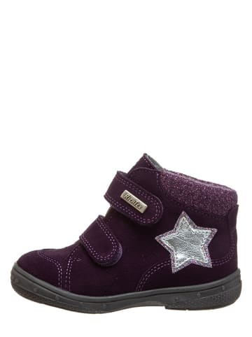Richter Shoes Leder-Sneakers in Violett