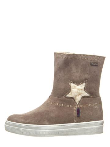 Richter Shoes Skórzane botki w kolorze beżowym