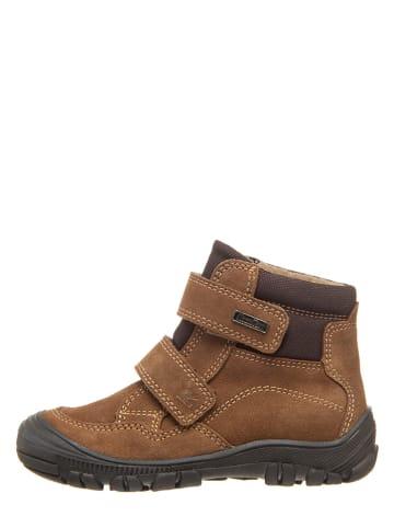 Richter Shoes Skórzane botki w kolorze brązowym