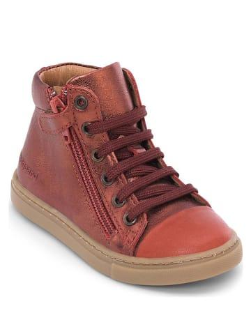"""Bundgaard Skórzane sneakersy """"Rie Lace"""" w kolorze czerwonym"""