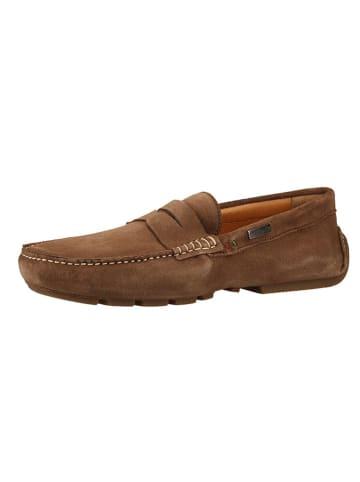 Pantofola D'Oro Skórzane mokasyny w kolorze szarobrązowym
