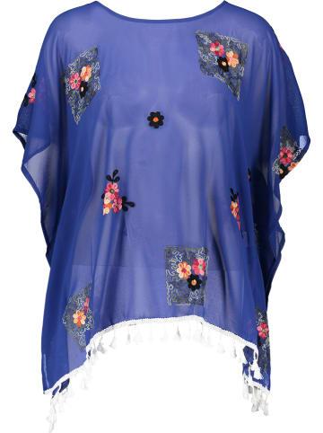 Sunny Times Tunika w kolorze niebieskim ze wzorem