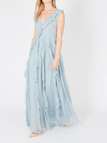 TWIN SET Sukienka w kolorze błękitnym