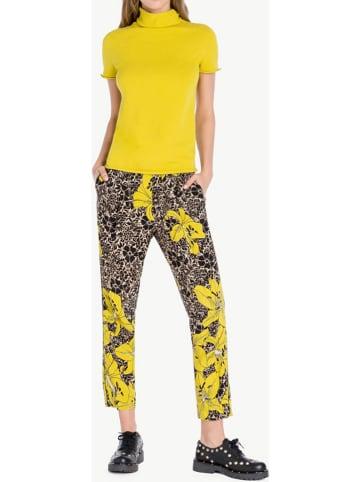 TWIN SET Spodnie w kolorze czarno-żółtym