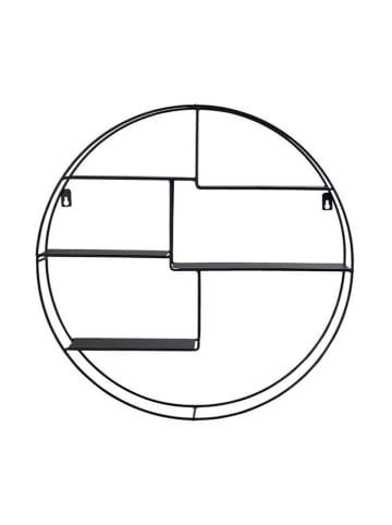 House Nordic Regał ścienny w kolorze czarnym - Ø 47,5 cm
