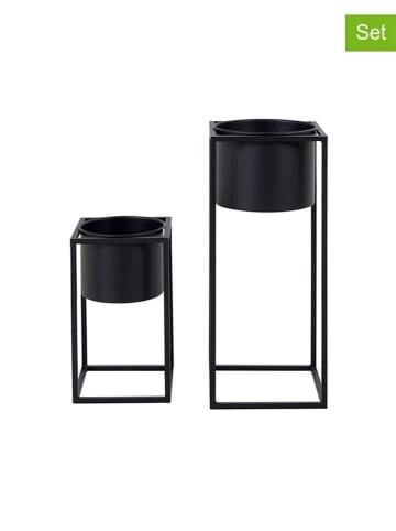 House Nordic 2-delige set: bloempotten zwart