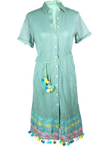 SIGRIS Moda Sukienka w kolorze miętowym