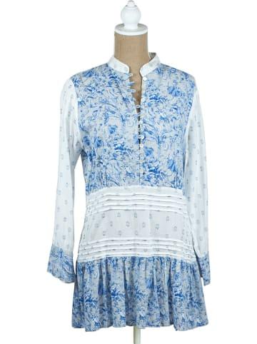SIGRIS Moda Sukienka w kolorze biało-niebieskim