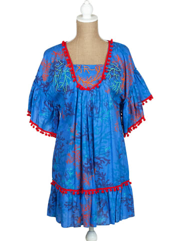 SIGRIS Moda Jurk blauw/rood