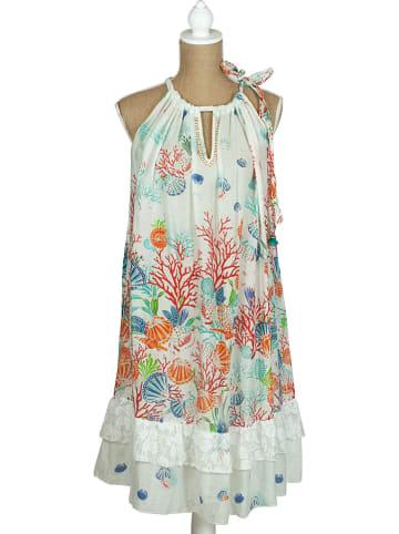 SIGRIS Moda Kleid in Weiß/ Bunt
