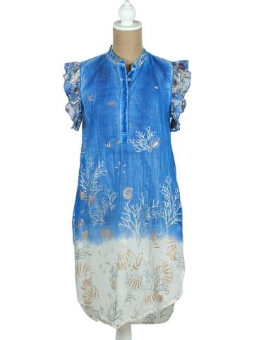 SIGRIS Moda Jurk blauw/wit