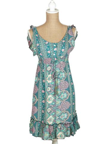 SIGRIS Moda Kleid in Grün/ Rosa
