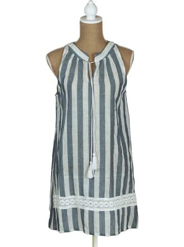 SIGRIS Moda Kleid in Dunkelblau/ Weiß