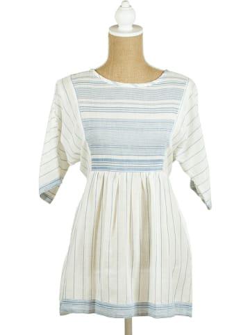 SIGRIS Moda Longbluse in Weiß/ Blau