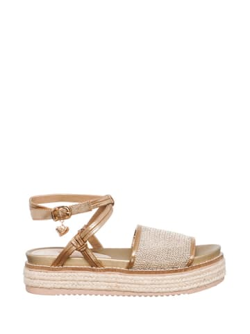Braccialini Sandały w kolorze złoto-beżowym