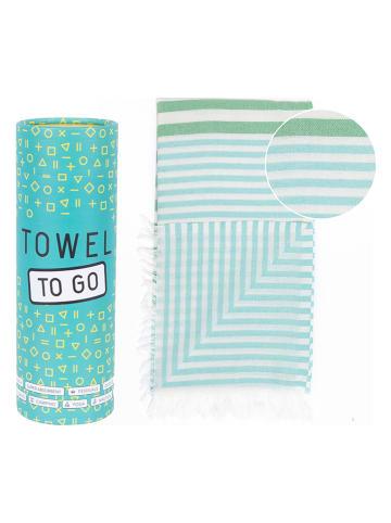 "Pandora Trade Strandtuch ""Towel to Go"" in Grün/ Türkis - (L)170 x (B)95 cm"