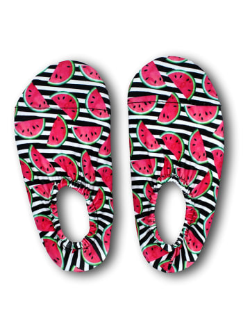 Pandora Trade Buty kąpielowe w kolorze różowo-czarnym