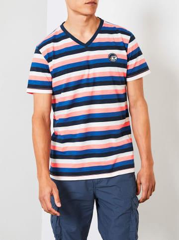 Petrol Industries Koszulka w kolorze niebiesko-pomarańczowym