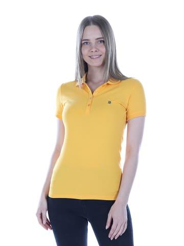 GIORGIO DI MARE Koszulka polo w kolorze musztardowym