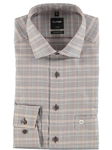 "OLYMP Hemd ""Luxor"" - Modern fit - in Beige/ Braun"