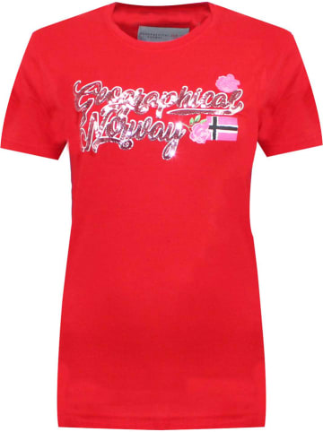 """Geographical Norway Shirt """"Jelphine"""" rood"""
