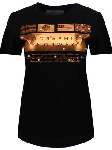 """Geographical Norway Shirt """"Jicorne"""" zwart"""