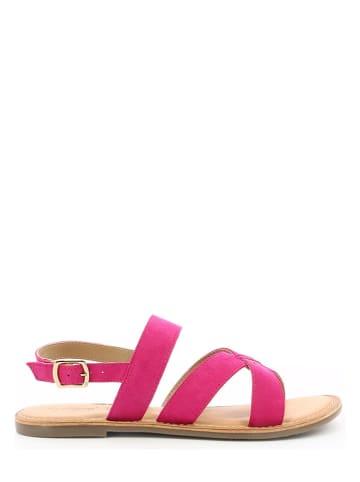"""Kickers Skórzane sandały """"Diba-2"""" w kolorze różowym"""