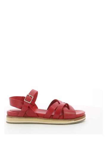 """Kickers Skórzane sandały """"Odianna"""" w kolorze czerwonym"""
